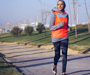 hijab, sport, and hijab fashion image