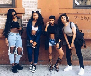 squad, girl, and goals image
