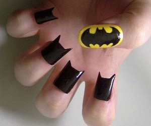 nails, batman, and black image