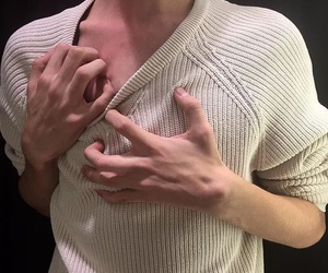 boy, clavicle, and hands image