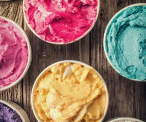 ice cream, blue, and food image