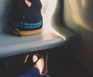backpack, train, and travel image
