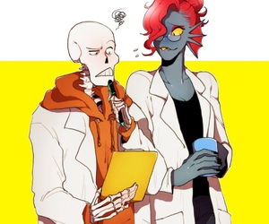 papyrus, undyne, and underswap image