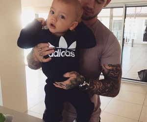 baby, family, and tattoo image