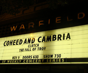 clutch, san francisco, and coheed and cambria image