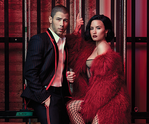 demi lovato, nick jonas, and nemi image