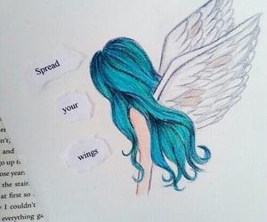 angel, art, and drawing image