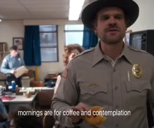 coffee, contemplation, and stranger things image