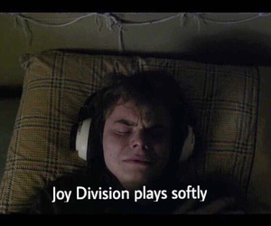 joy division, music, and stranger things image