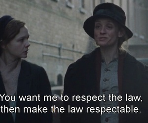 Carey Mulligan and suffragette image