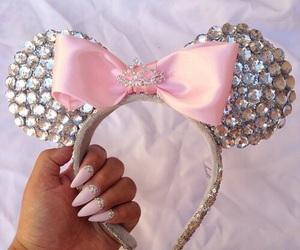 pink, nails, and disney image