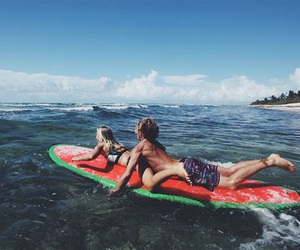 love, surf, and beach image