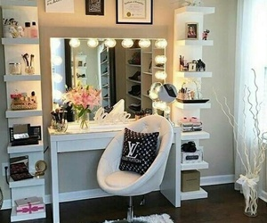 makeup, girly, and vanity image