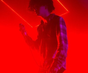 the 1975, neon, and red image