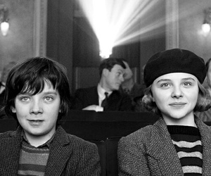 black and white, asa butterfield, and chloe grace moretz image