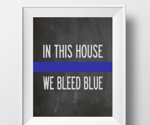 etsy, thin blue line, and police officer gift image