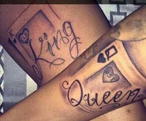 bae, couples, and matchingtattoos image