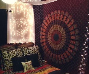 bedroom and tapestry image