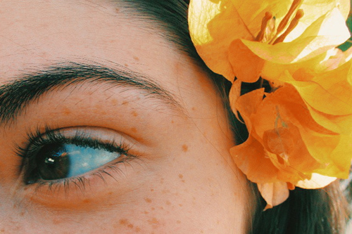 eye and flower image