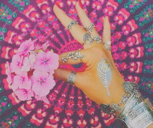 pink, flowers, and indie image