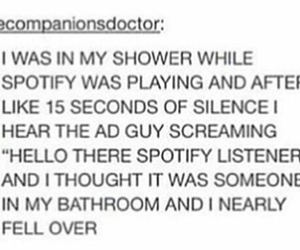 funny, shower, and tumblr image