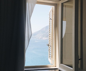window, sea, and tumblr image
