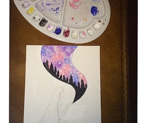 art, water color, and beautiful image