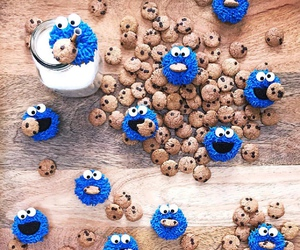 cookie monster, Cookies, and food image