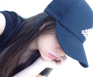 adidas, girl, and hat image