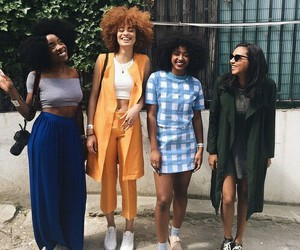friends, Afro, and beauty image