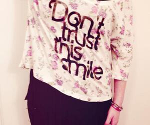 smile, clothes, and shirt image