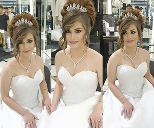bride, hairstyles, and make up image
