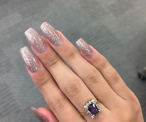 nails, pretty, and cute image