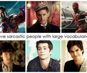 sherlock, deadpool, and dean winchester image