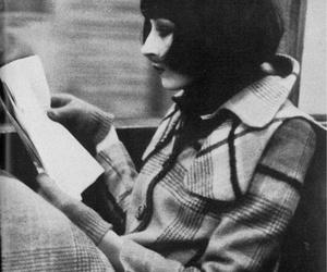 black and white, Anjelica Huston, and hair image