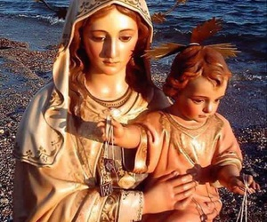 mary, child jesus, and virgen del carmen image
