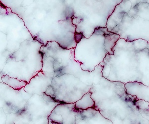 marble, red, and white image