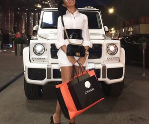 girl, beautiful, and car image