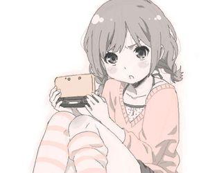 anime, girl, and nintendo ds image