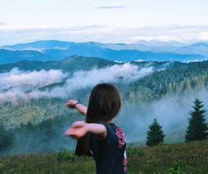 fashion, hair, and mountain image