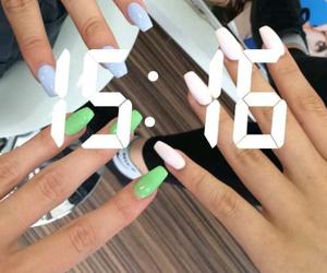 acrylic, goals, and nail polish image