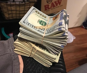bands, cash, and luxury image