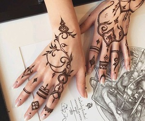 henna, art, and hands image