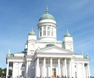 cathedral, travel, and finland image