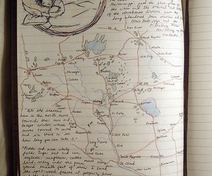 Dream, journal, and map image