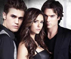 elena, the vampire diaries, and damon image