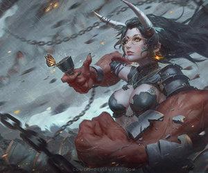 art, fantasy, and guweiz image