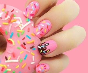 nails, donuts, and pink image