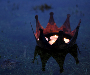 candle, crown, and fire image