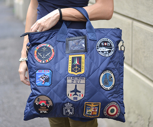 bag, patches, and military style image